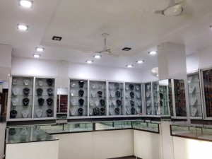 Cubie - 15W LED downlights in Jewelry Showroom