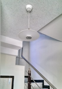 ‎Home Interior‬ with Charlston ‪‎LED‬ Pendant Light Eclipse in Stairs