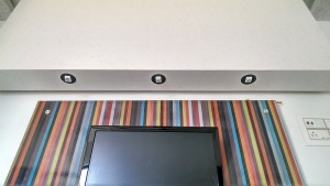 MagicEye LED spotlight in TV Unit of Bedroom